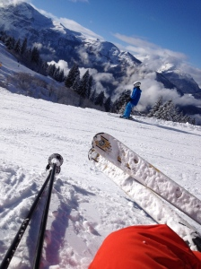 Ski tips above the clouds