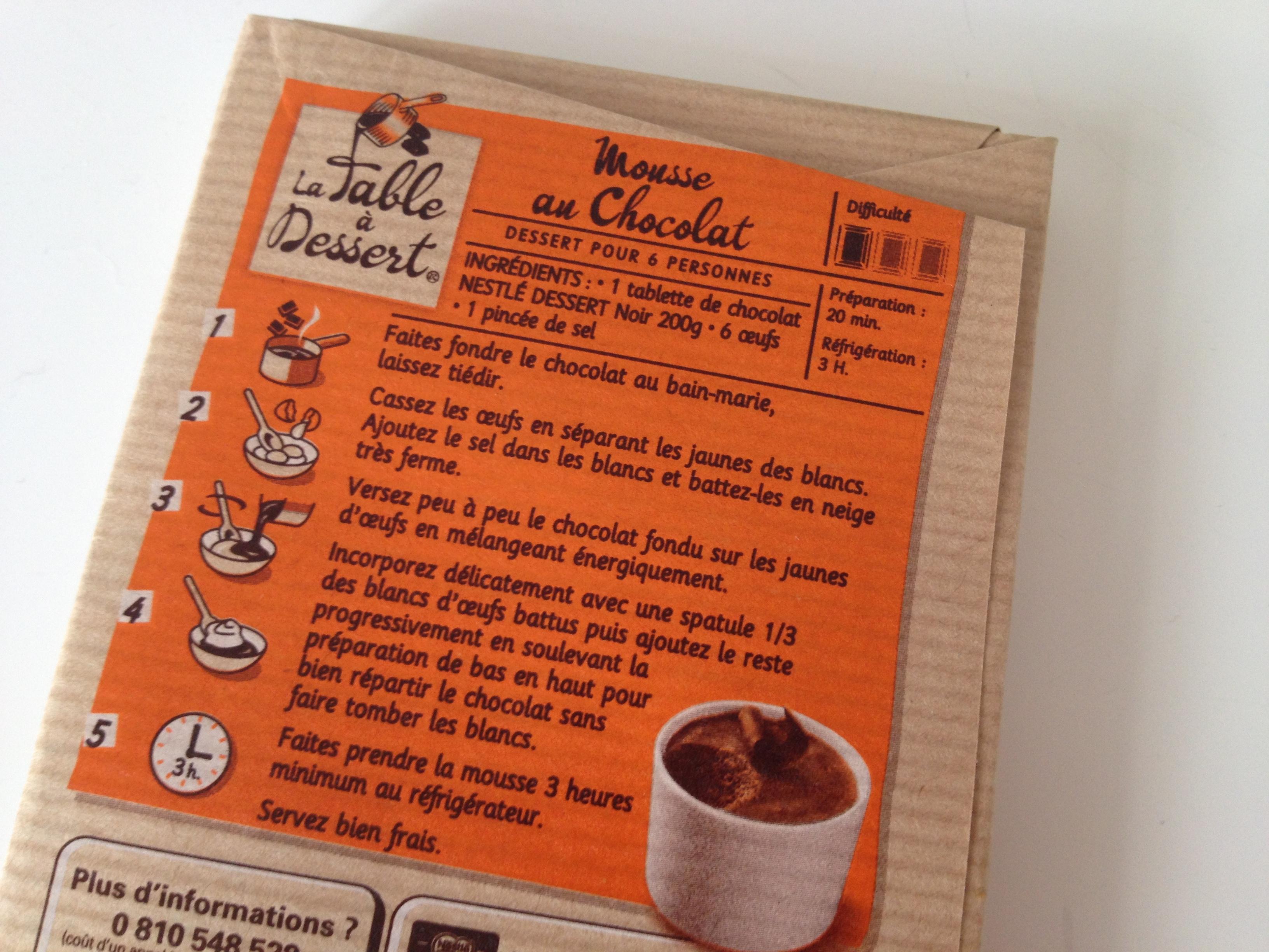 mousse au chocolat recette nestle