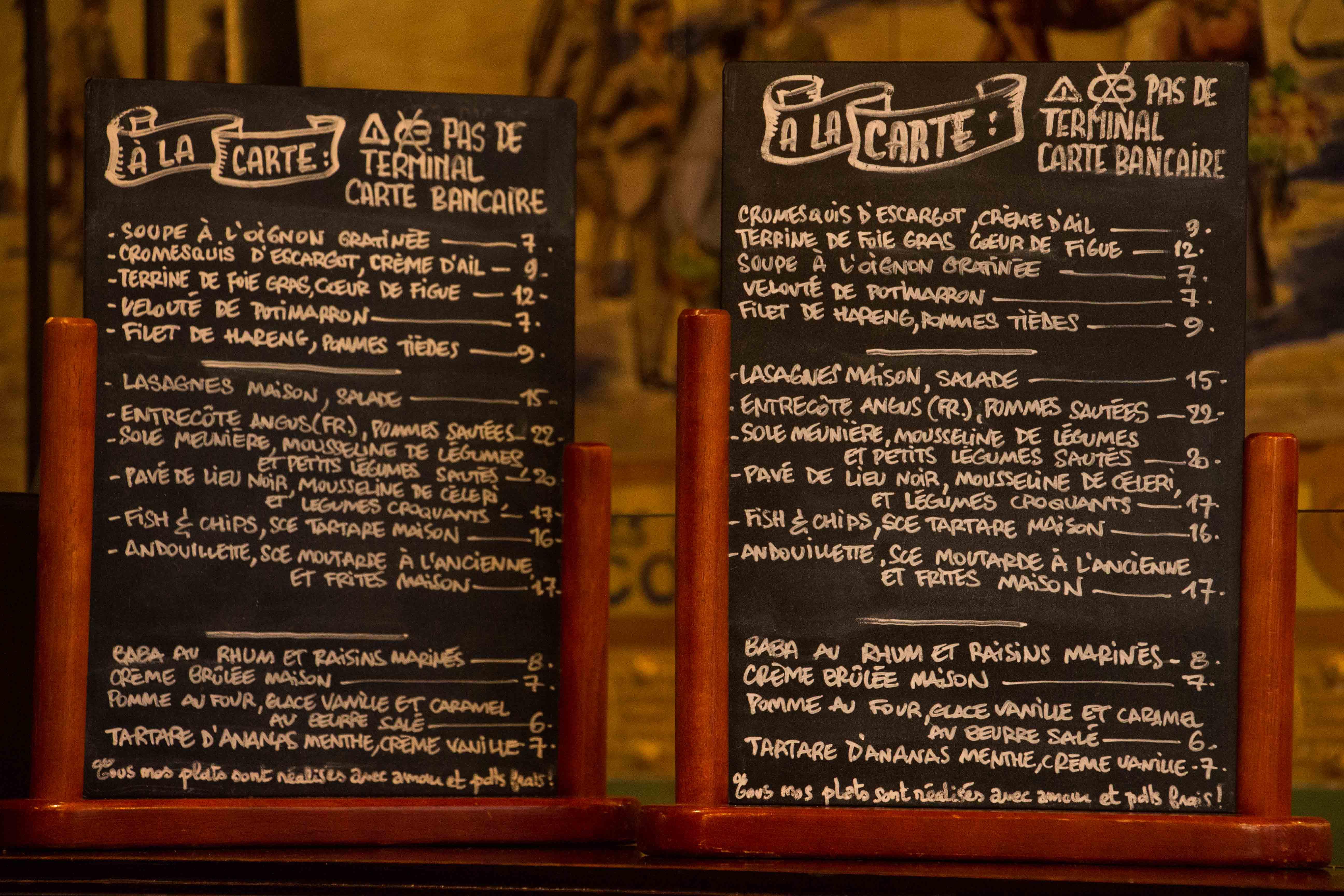 Restaurant Le Consulat Nice Menu