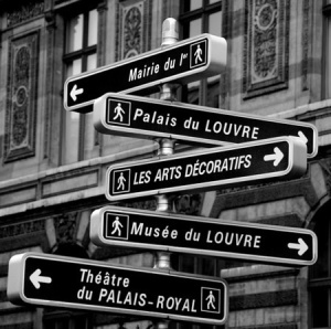Paris directional signs