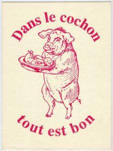 Dans le cochon