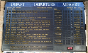 Train times Gare du Nord