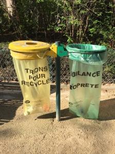Paris trash bins